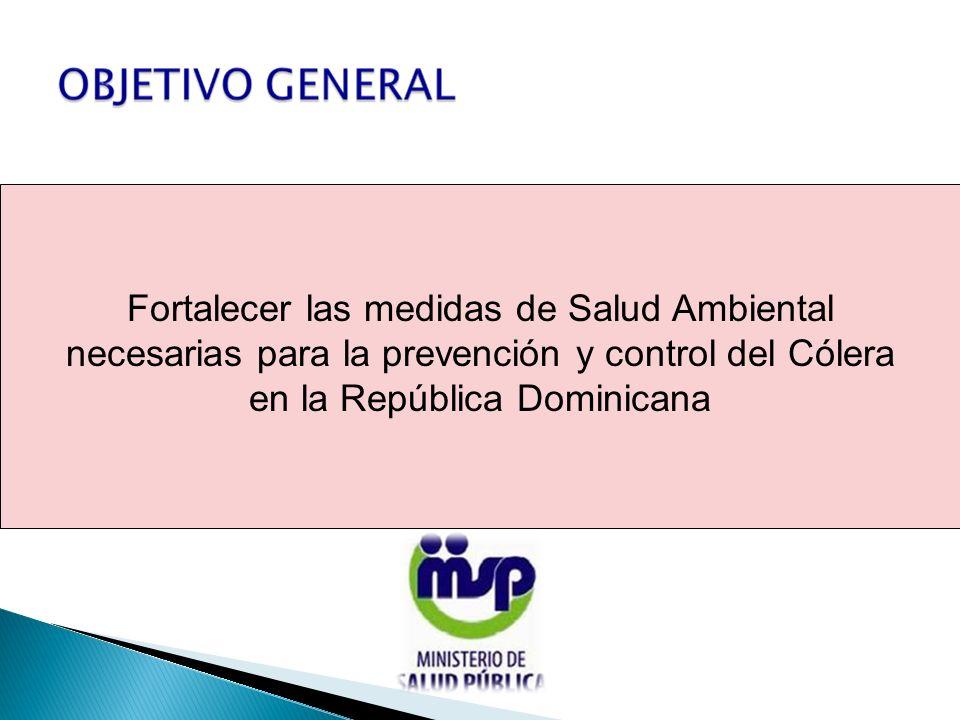 Fortalecer las medidas de Salud Ambiental necesarias para la prevención y control del Cólera en la República Dominicana