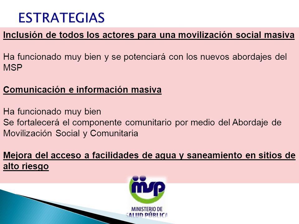 Inclusión de todos los actores para una movilización social masiva Ha funcionado muy bien y se potenciará con los nuevos abordajes del MSP Comunicació