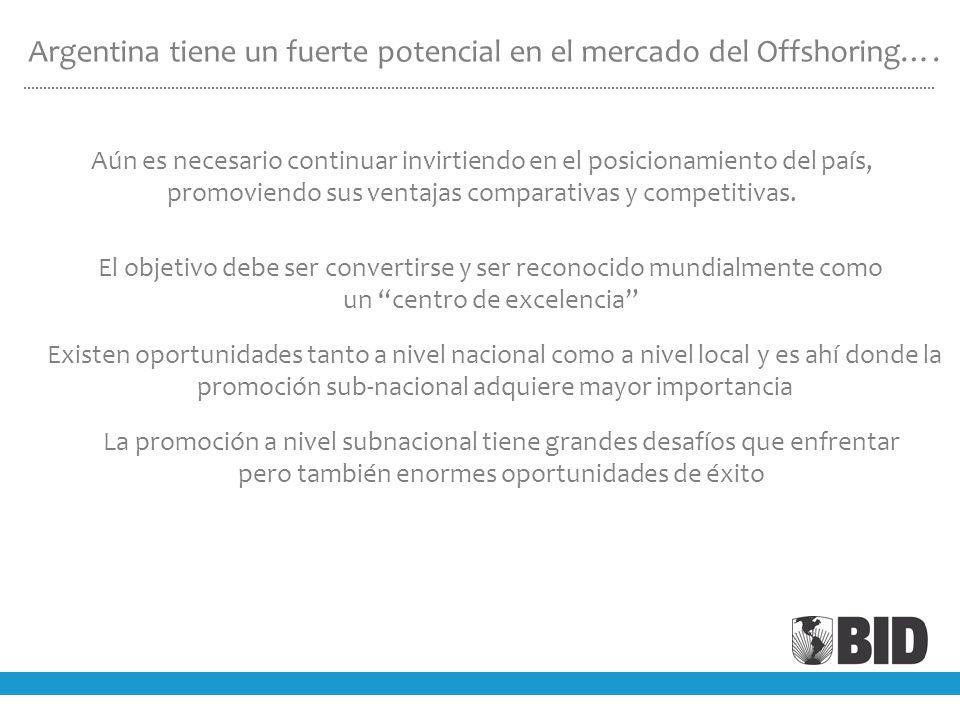 Argentina tiene un fuerte potencial en el mercado del Offshoring….