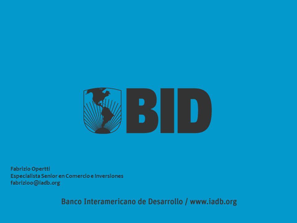 Fabrizio Opertti Especialista Senior en Comercio e Inversiones fabrizioo@iadb.org