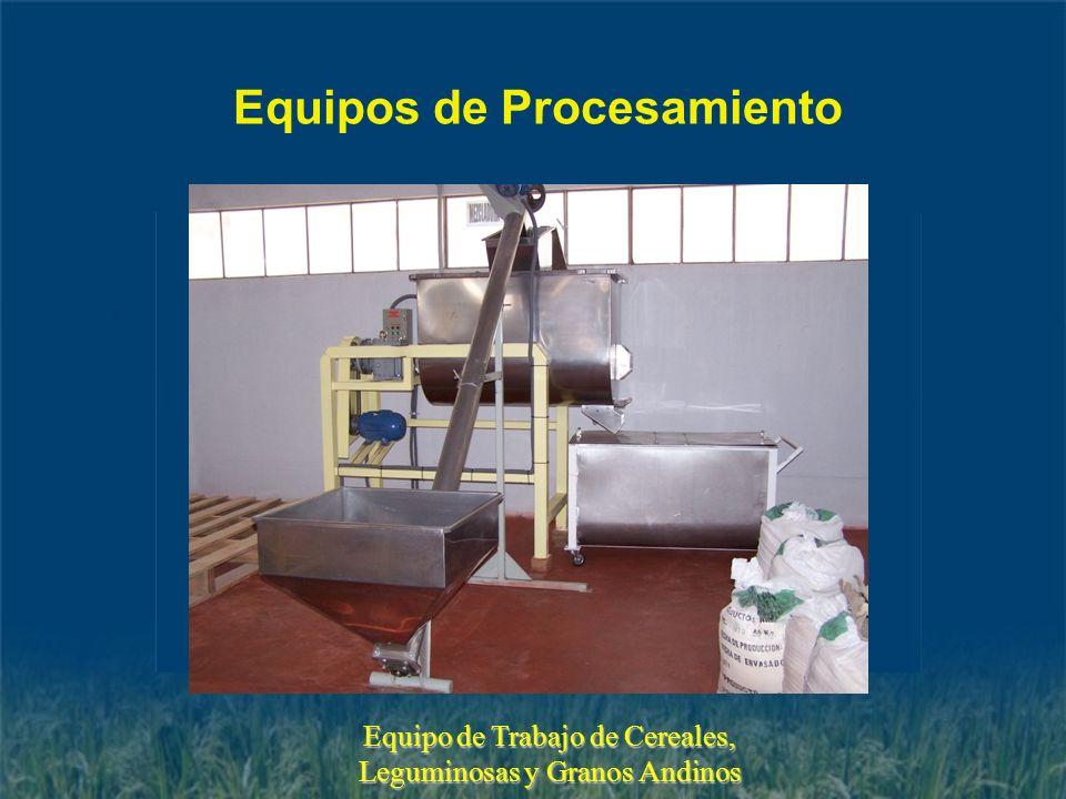 Equipos de Procesamiento Equipo de Trabajo de Cereales, Leguminosas y Granos Andinos