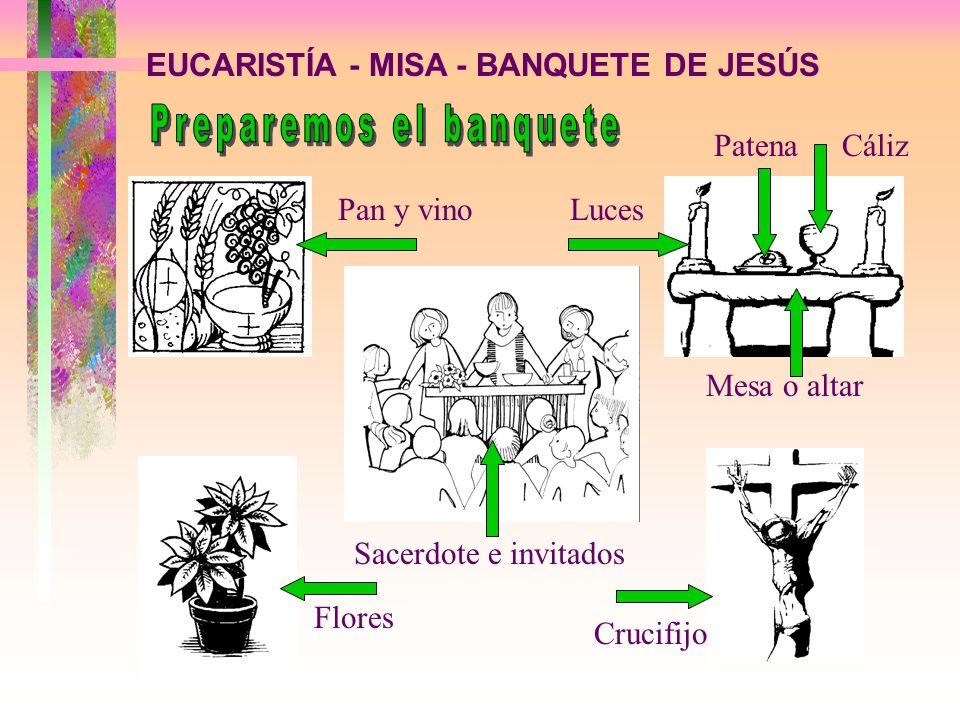 EUCARISTÍA - MISA - BANQUETE DE JESÚS A - PIDAMOS PERDÓN POR NUESTRAS FALTAS Vayamos limpios al banquete de Jesús, con los demás cristianos RITO DE APERTURA 1a.