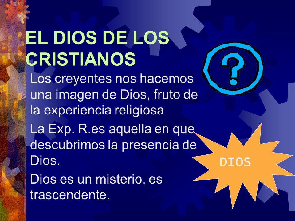EL DIOS DE LOS CRISTIANOS Los creyentes nos hacemos una imagen de Dios, fruto de la experiencia religiosa La Exp.