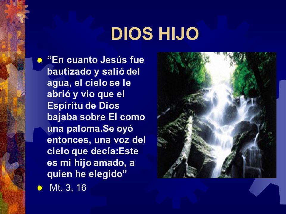 DIOS PADRE Créanme que yo estoy en el Padre y el Padre está en Mí...el que me ama, hace caso de mi palabra; y mi Padre lo amará y mi Padre y Yo vendre