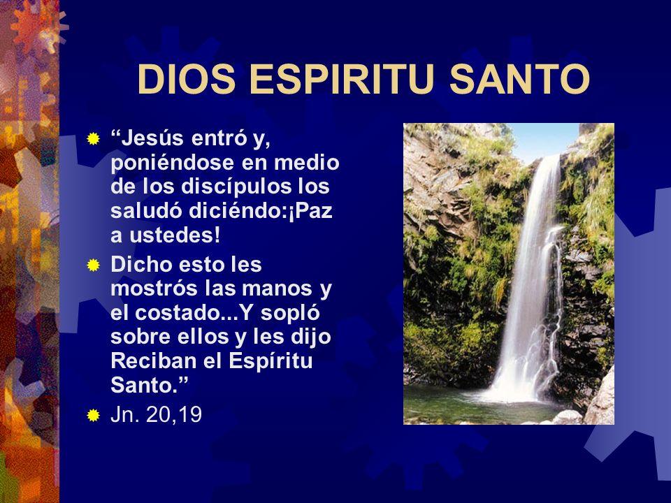 DIOS HIJO En cuanto Jesús fue bautizado y salió del agua, el cielo se le abrió y vio que el Espíritu de Dios bajaba sobre El como una paloma.Se oyó en