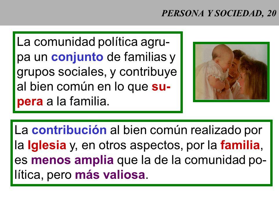 PERSONA Y SOCIEDAD, 19 Gaudium et spes 25 Gaudium et spes 25: De los vínculos sociales que son necesarios para el cultivo del hombre, unos, como la fa