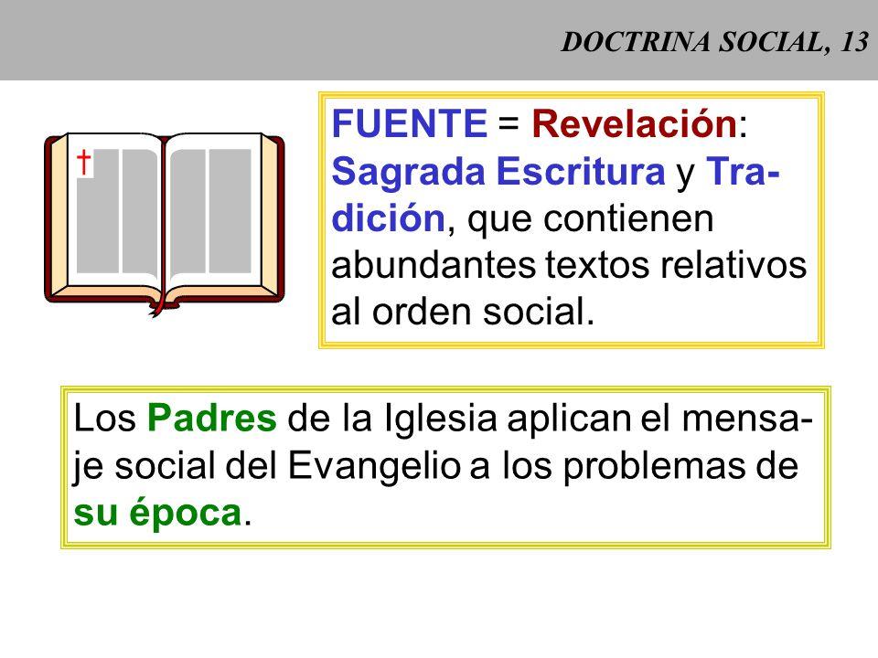 DOCTRINA SOCIAL, 12 Centesimus annus (1991) 5 Centesimus annus (1991) 5: para la Iglesia enseñar y difundir la doctrina social pertenece a su misión e