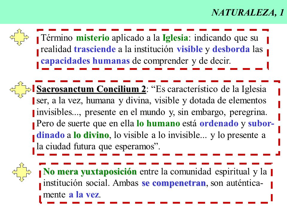 NATURALEZA, 1 Término misterio aplicado a la Iglesia: indicando que su realidad trasciende a la institución visible y desborda las capacidades humanas