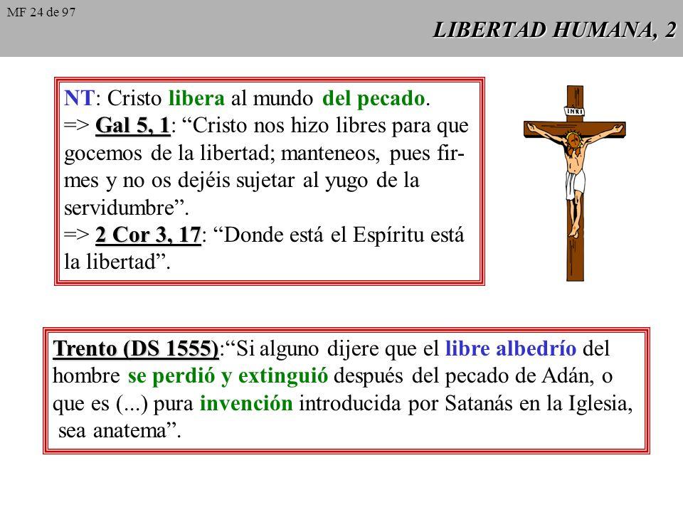 LIBERTAD HUMANA, 1 Veritatis splendor 33 Veritatis splendor 33: Paralelamente a la exaltación de la libertad, y paradójicamente en contraste con ella,