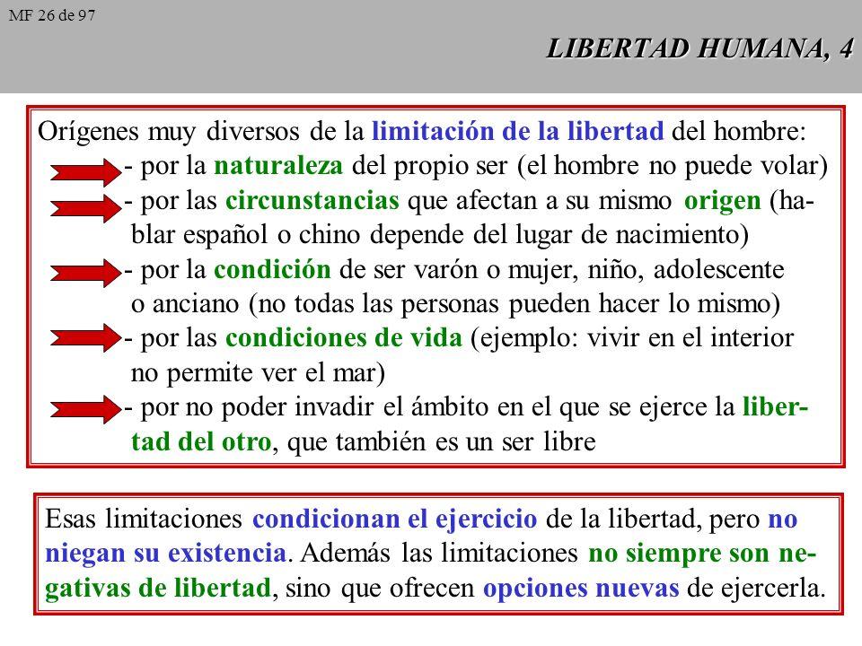 LIBERTAD HUMANA, 3 Definiciones posibles Definiciones posibles: 1. Libertad es la capacidad que tiene el hombre de autodetermi- narse; 2. Libertad es