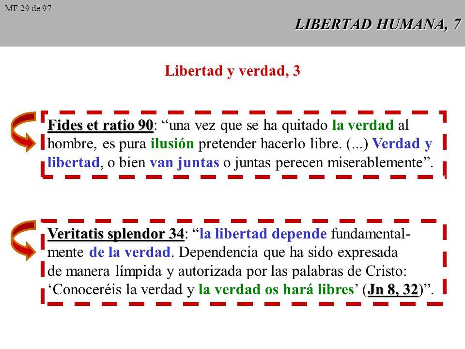 LIBERTAD HUMANA, 6 Libertad y verdad, 2 Veritatis splendor 35 Veritatis splendor 35: la Revelación enseña que el poder de decidir sobre el bien y el m