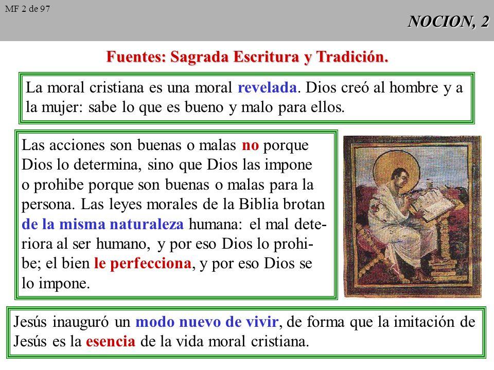 NOCION, 1 El cristiano no sólo cree, sino que vive. Teología Dogmática Teología Moral Pero Dogmática y Moral forman una sola ciencia: la vida del crey