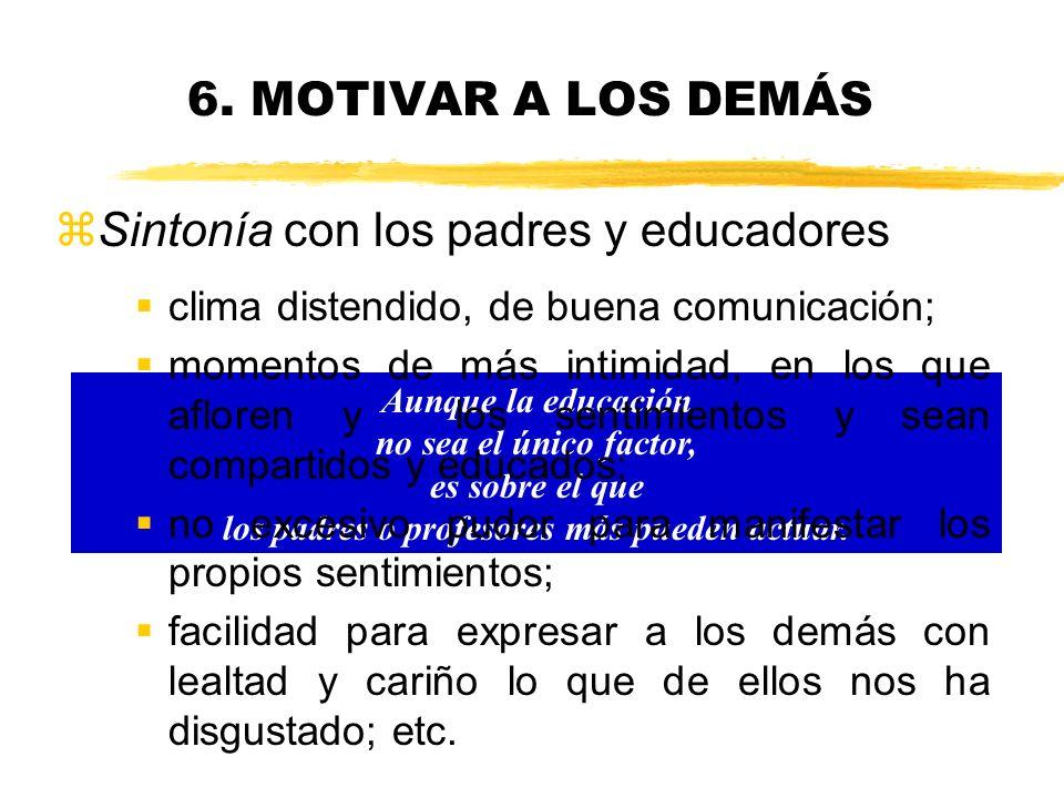 6. MOTIVAR A LOS DEMÁS La disciplina y la autoridad son decisivas para educar, pues generan respeto y ganas de mejorar Susanna Tamaro z¿Por qué hay ni