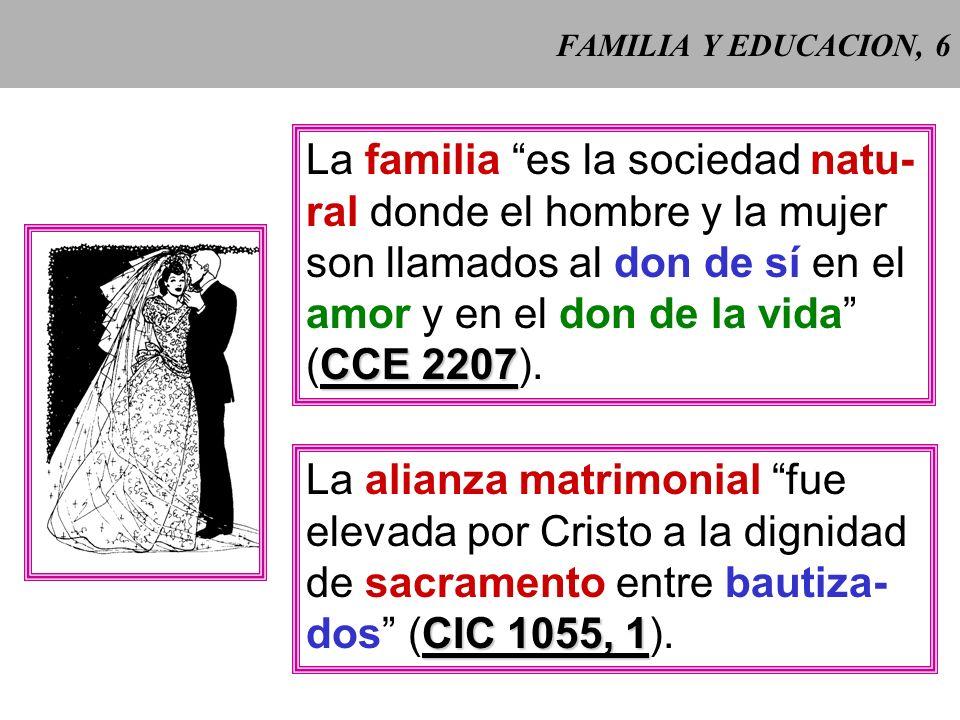 FAMILIA Y EDUCACION, 5 Carta de los derechos de la familia (1983), Preámbulo, B Preámbulo, B: la familia está fundada sobre el matrimonio, esa unión í