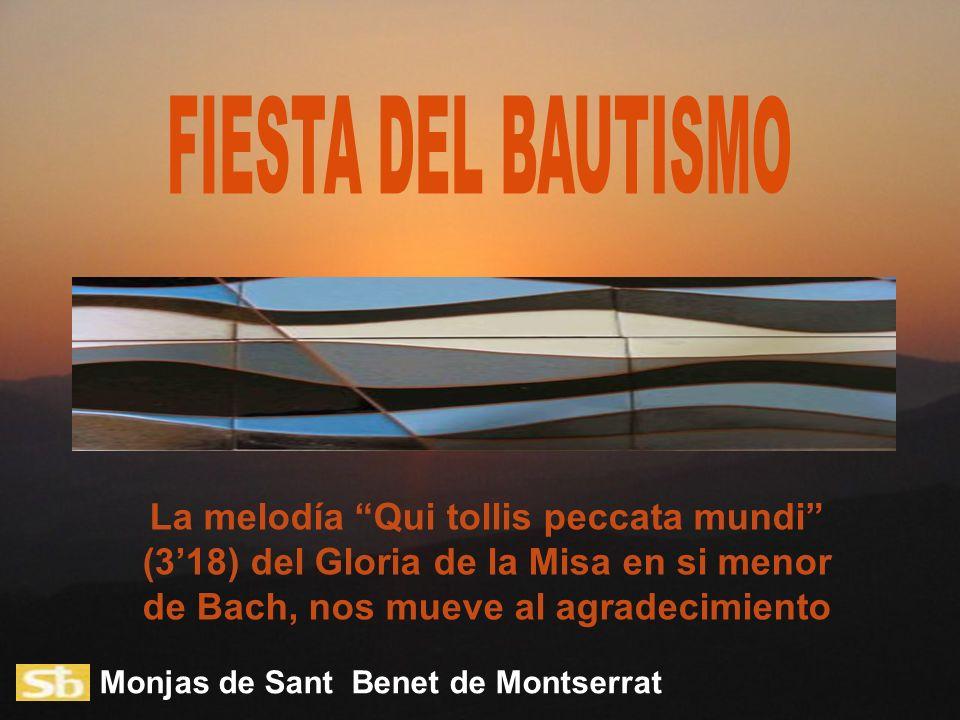 Monjas de Sant Benet de Montserrat La melodía Qui tollis peccata mundi (318) del Gloria de la Misa en si menor de Bach, nos mueve al agradecimiento