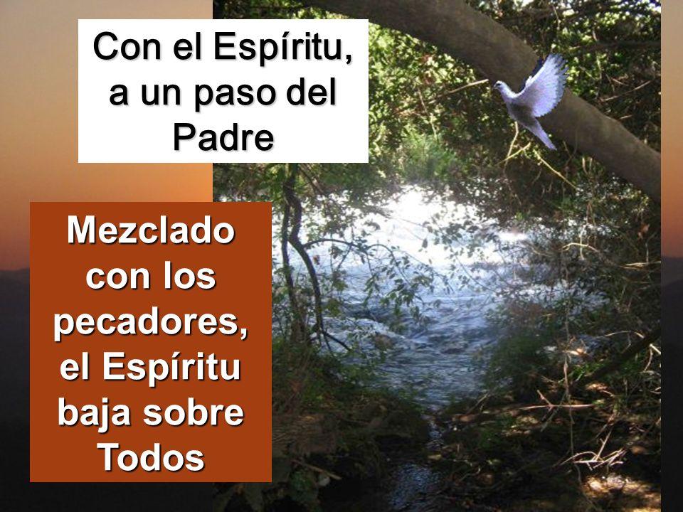 se abrió el cielo y vio que el Espíritu de Dios bajaba como una paloma y se posaba sobre él.