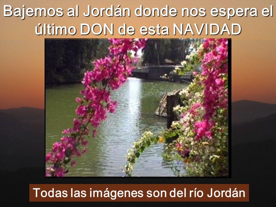 Bajemos al Jordán donde nos espera el último DON de esta NAVIDAD Todas las imágenes son del río Jordán