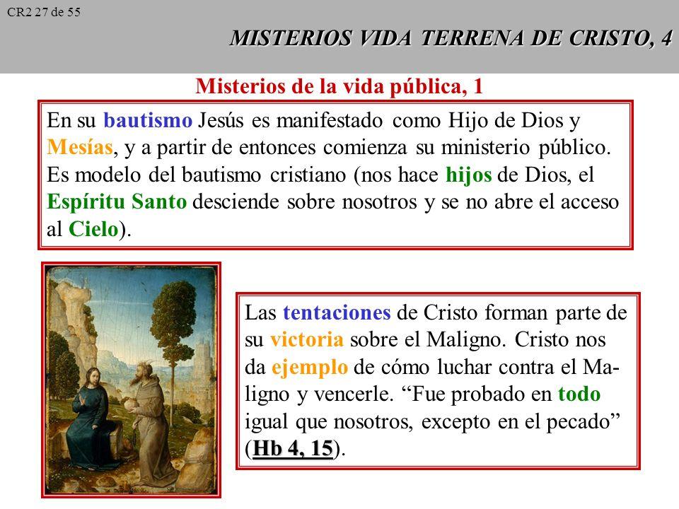 MISTERIOS VIDA TERRENA DE CRISTO, 3 La vida ordinaria de Jesús: el Verbo eterno ha redimido y santifica- do así todas las realidades nobles con las que está entretejida la vida común de los hombres.
