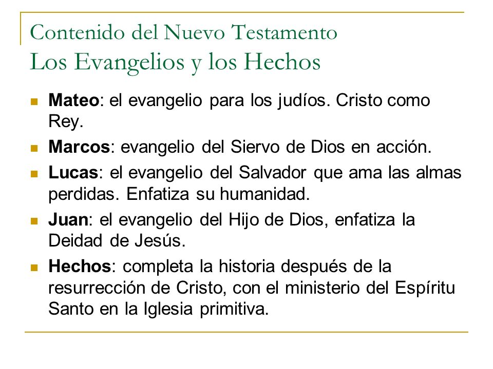 Contenido del Nuevo Testamento Las Epístolas de Pablo Romanos: el evangelio de la justicia de Dios en Cristo.