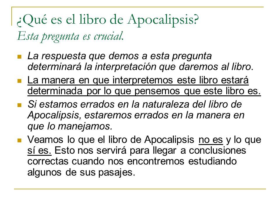 II- Características del Contenido ¿Cómo es el contenido del libro de Apocalipsis.