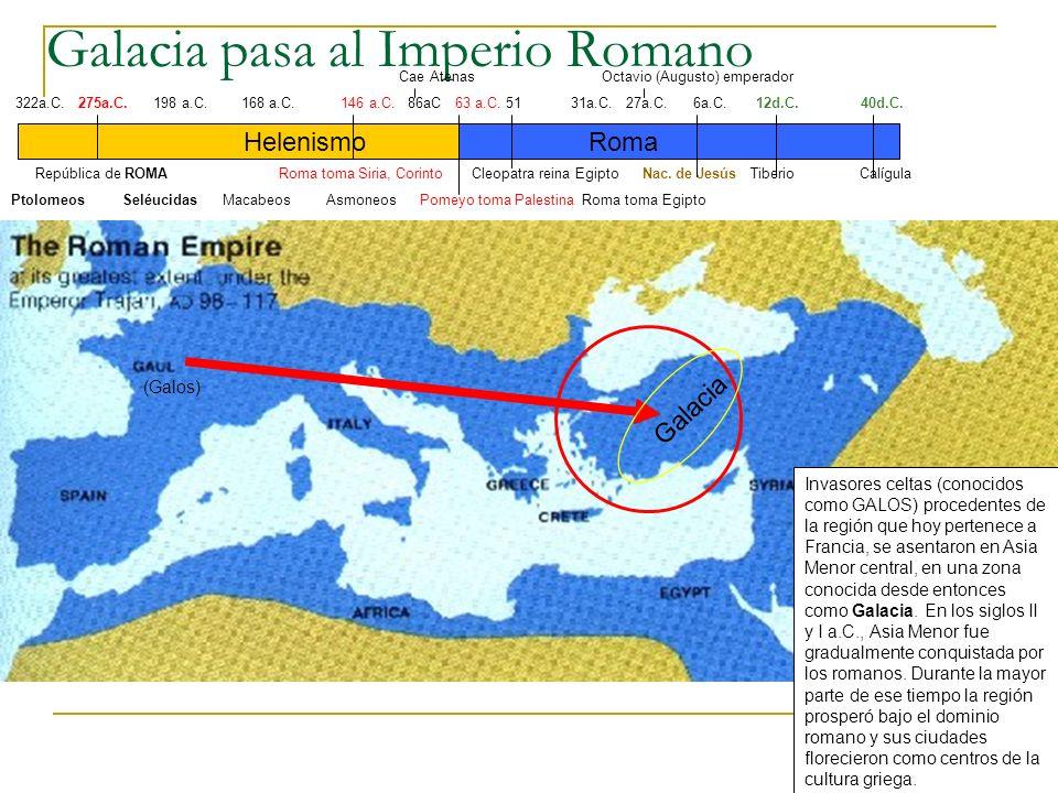 Galacia pasa al Imperio Romano Helenismo 322a.C.275a.C.