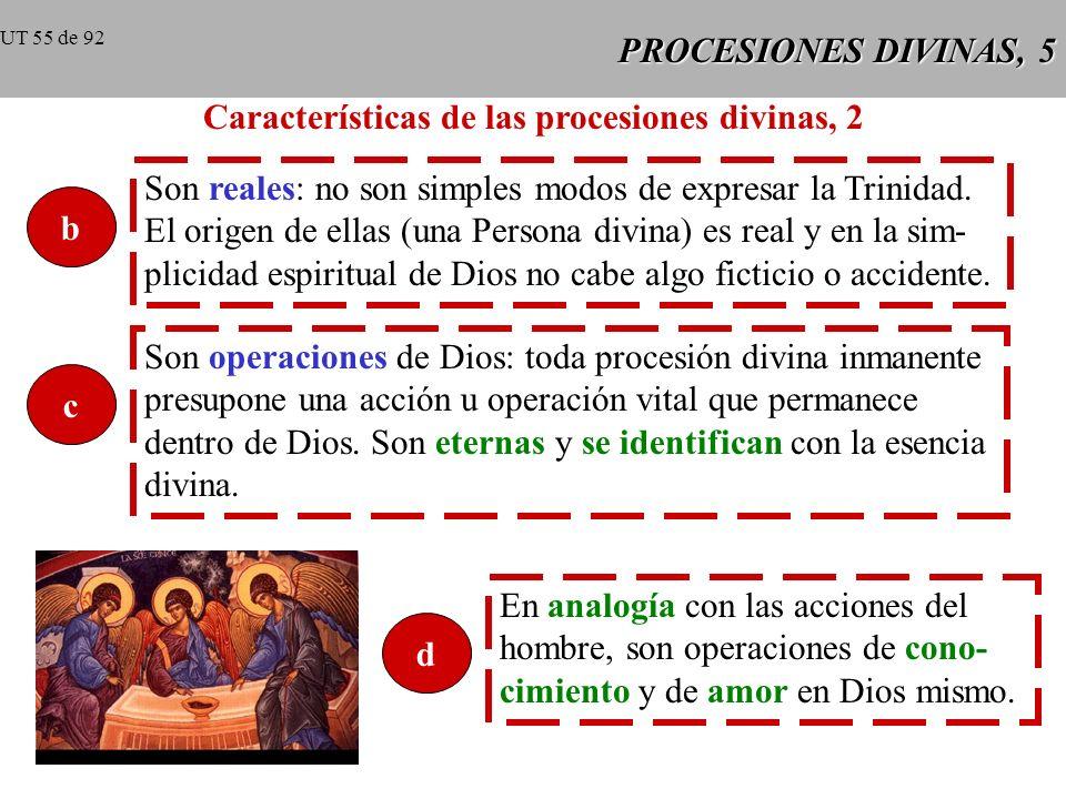 PROCESIONES DIVINAS, 5 Características de las procesiones divinas, 2 b Son reales: no son simples modos de expresar la Trinidad.