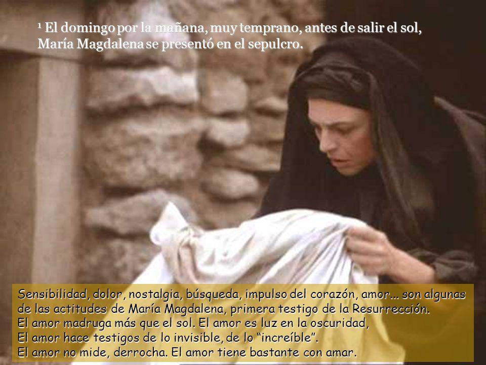 1 El domingo por la mañana, muy temprano, antes de salir el sol, María Magdalena se presentó en el sepulcro.