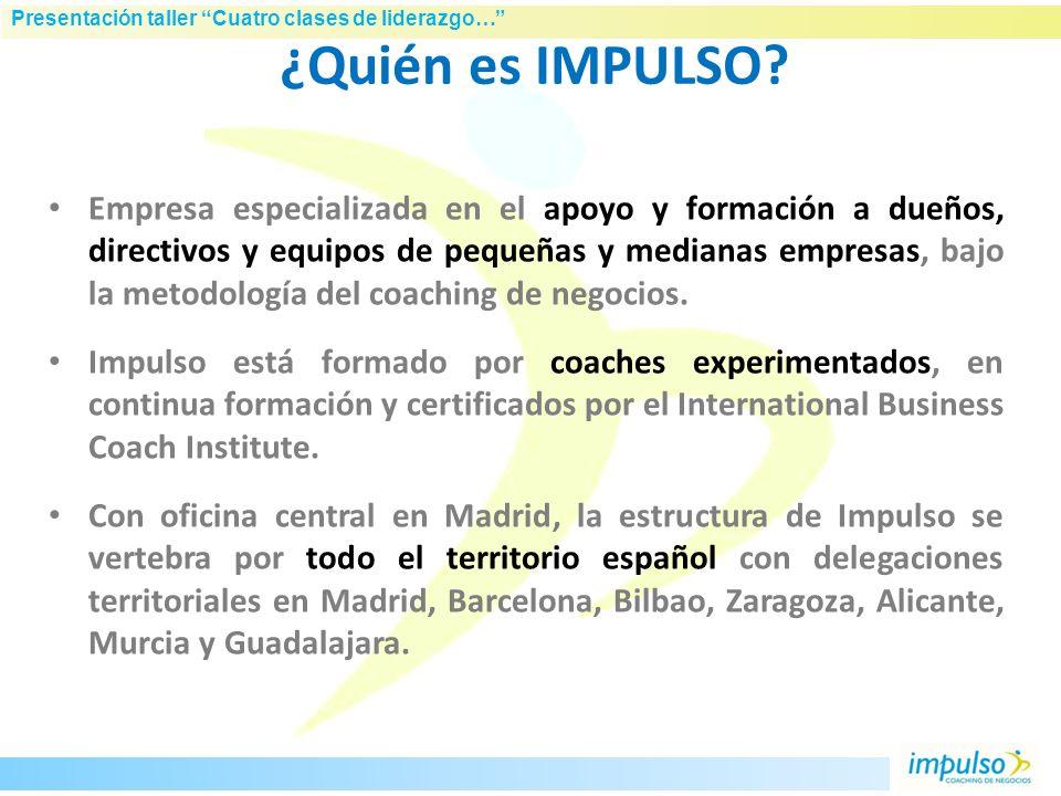 Presentación taller Cuatro clases de liderazgo… Humberto Roselló Licenciado en CC. Económicas y Empresariales. Máster en implantación de franquicias p