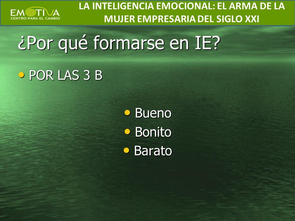 Formación en IE Los objetivos están claros y muy bien definidos dentro de la IE.