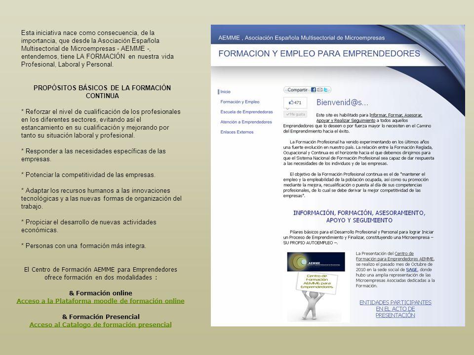 Esta iniciativa nace como consecuencia, de la importancia, que desde la Asociación Española Multisectorial de Microempresas - AEMME -, entendemos, tie