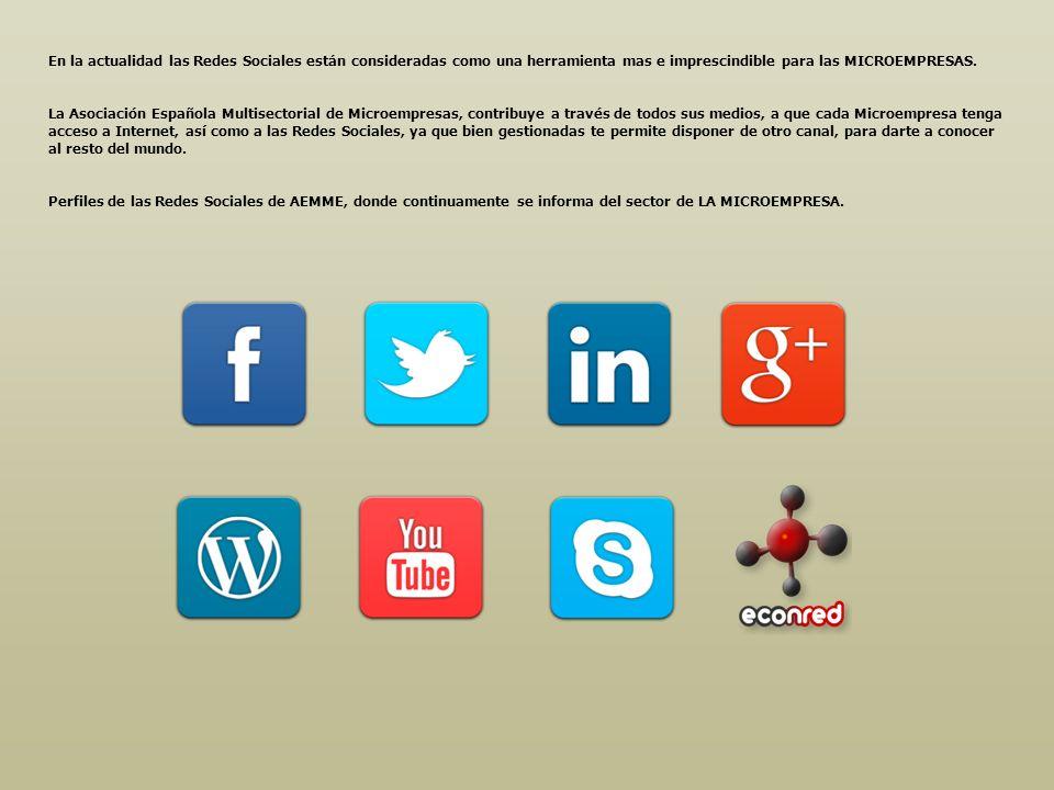En la actualidad las Redes Sociales están consideradas como una herramienta mas e imprescindible para las MICROEMPRESAS. La Asociación Española Multis