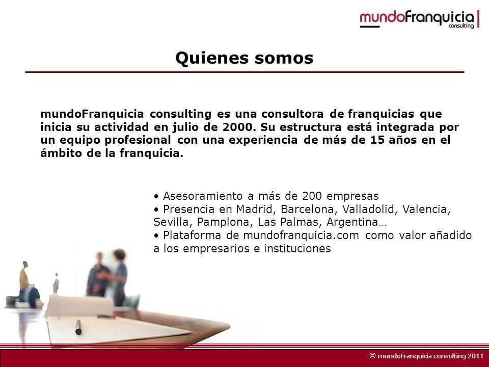 mundoFranquicia consulting es una consultora de franquicias que inicia su actividad en julio de 2000.