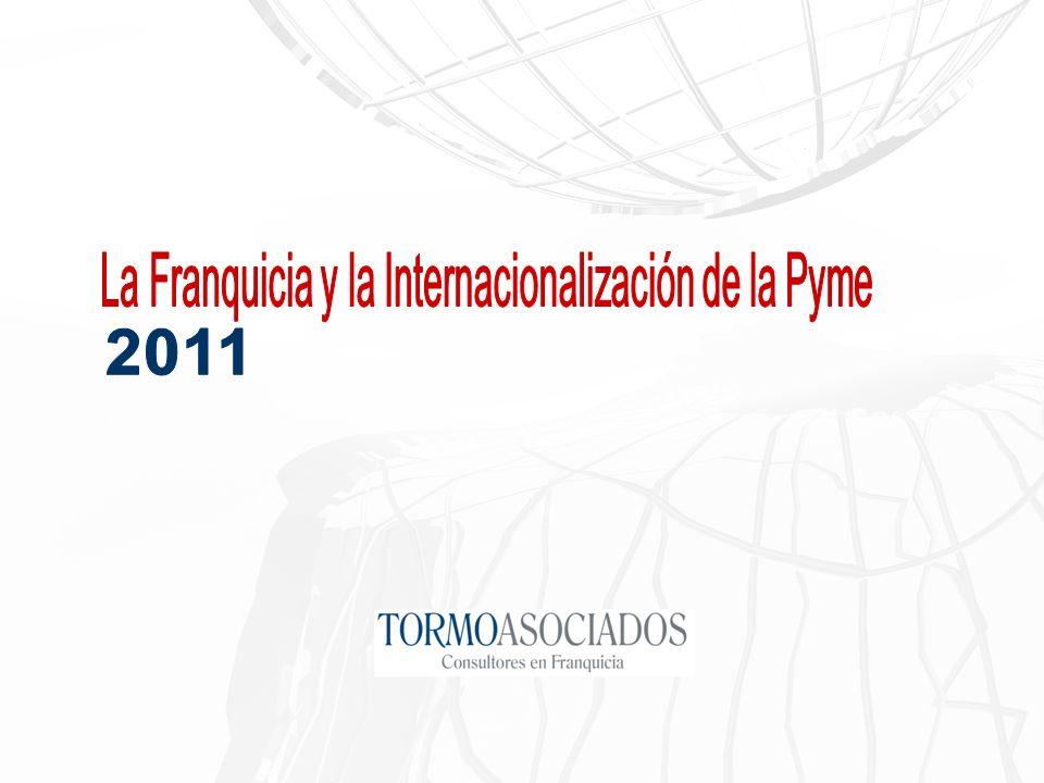 La franquicia, constituye un sistema de cooperación empresarial también muy efectivo para conseguir la internacionalización, debido a las menores necesidades de recursos financieros y humanos