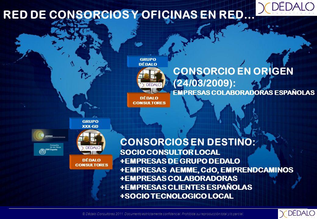 © Dédalo Consultores 2011. Documento estrictamente confidencial. Prohibida su reproducción total y/o parcial. RED DE CONSORCIOS Y OFICINAS EN RED… DÉD