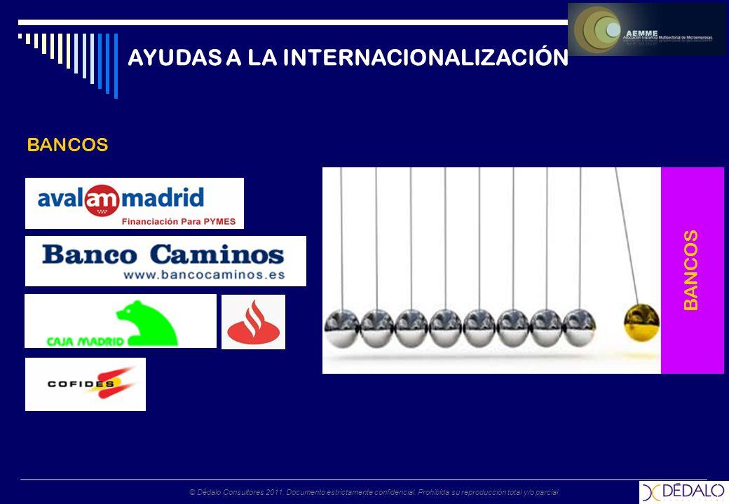 © Dédalo Consultores 2011. Documento estrictamente confidencial. Prohibida su reproducción total y/o parcial. AYUDAS A LA INTERNACIONALIZACIÓN BANCOS
