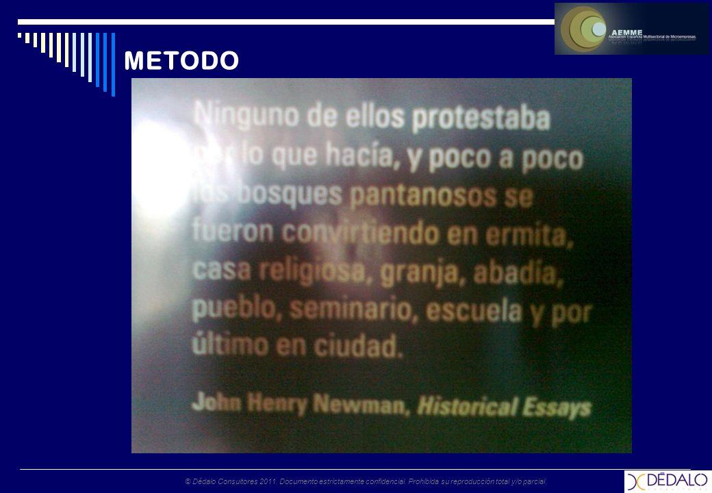 © Dédalo Consultores 2011. Documento estrictamente confidencial. Prohibida su reproducción total y/o parcial. METODO
