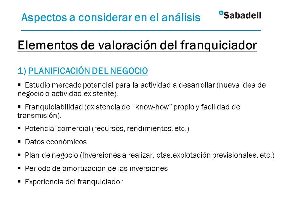 1) PLANIFICACIÓN DEL NEGOCIO Estudio mercado potencial para la actividad a desarrollar (nueva idea de negocio o actividad existente). Franquiciabilida