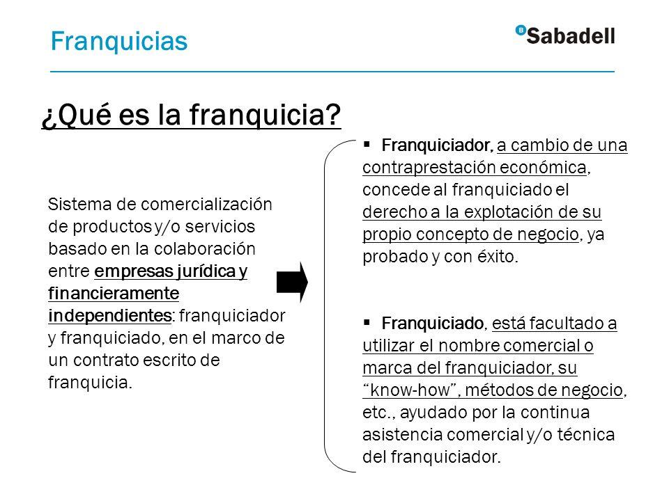 Sistema de comercialización de productos y/o servicios basado en la colaboración entre empresas jurídica y financieramente independientes: franquiciad