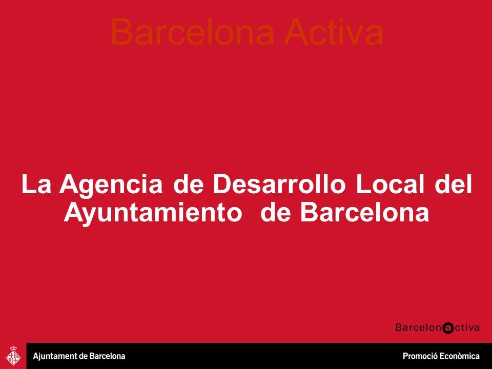 Iniciativa Emprenedora Innovació Creixement Empresarial Oportunitats professionals Barcelona 2011 Una ciudad con 1.615.908 habitantes Con un área Metropolitana de 4.928.852 habitantes 82,1% de la fuerza del trabajo empleada en servicios 86% de empresas con menos de 10 trabajadores/as 50.000 trabajadores/as Sec.