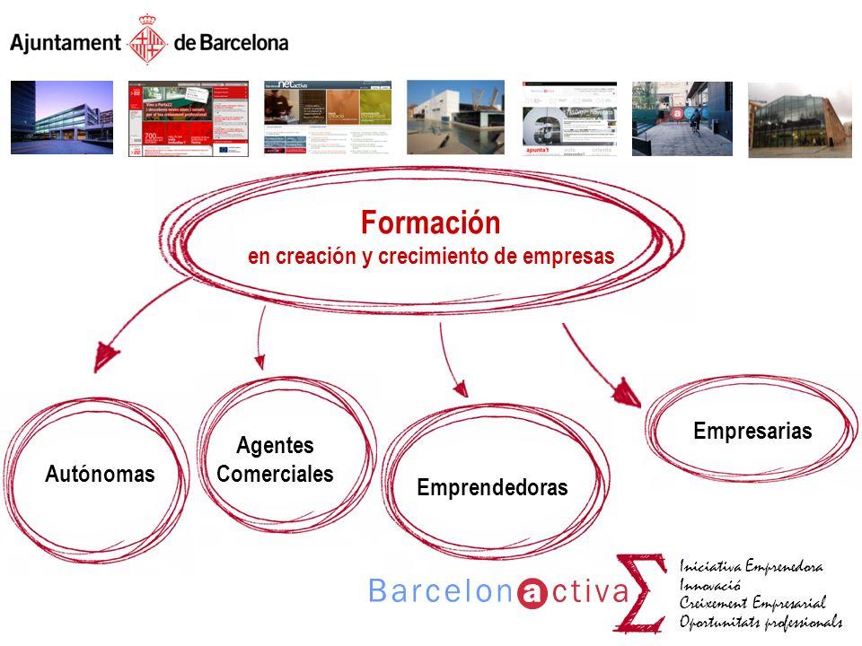 Iniciativa Emprenedora Innovació Creixement Empresarial Oportunitats professionals Formación en creación y crecimiento de empresas Autónomas Agentes C