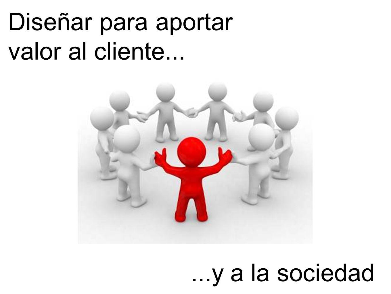 Diseñar para aportar valor al cliente......y a la sociedad