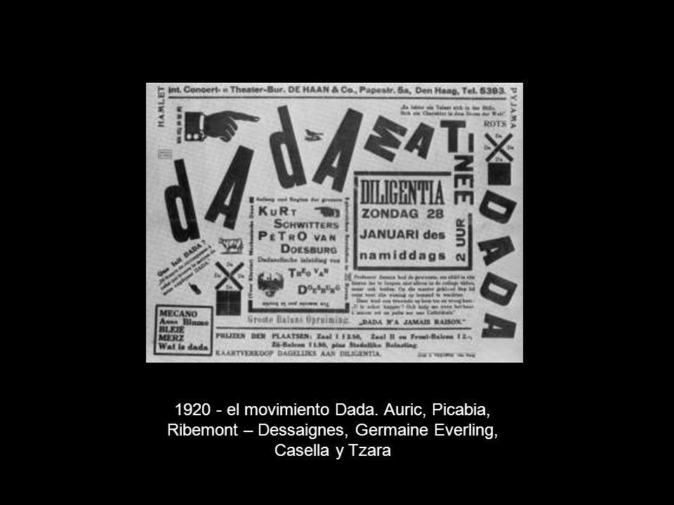 (1922) Kleine Dada Soirée, Litografia de Theo van Doesburg e Kurt Shwitters