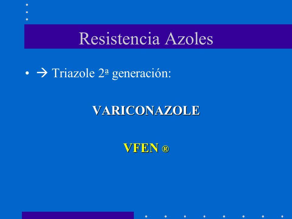 Resistencia Azoles Triazole 2 a generación:VARICONAZOLE VFEN ®