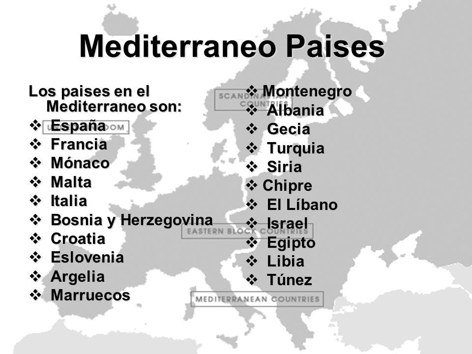 Comidas Compartidas Las Comidas compartidas por todos los paises Mediterraneos son: Pizza Pizza Paella Paella Queso y yogur Queso y yogur Legumes Legumes Aceite de olivaAceite de oliva Carne cruda Carne cruda