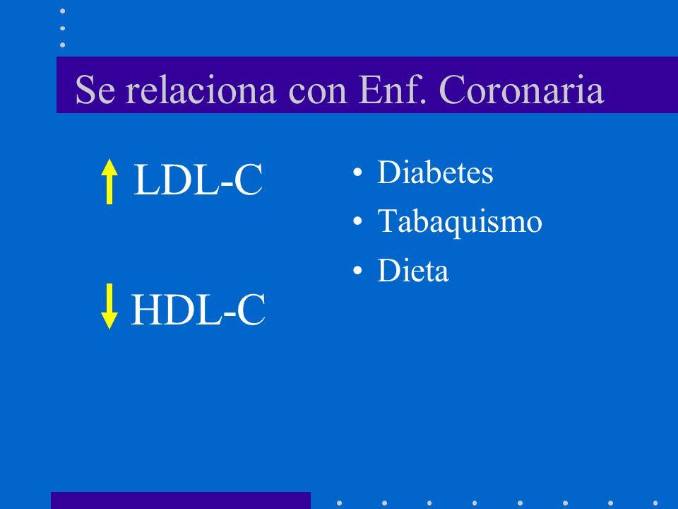 Perfil Lípidos 170 1.Colesterol > 170 mg/dL 200 2.Colesterol > 200 mg/dL 3.Padres: Colesterol > 240 mg/dL 4.Padres/Abuelos cardiopatía 55 años 5.Factores riesgo 6.Todos niños obesos 7.Historia Familiar desconocida o sospecha LDL-C 110110 mg/dL: aceptable 130130 mg/dL: elevado 110 – 130 mg/dL repetir en un año LDL-C = Colesterol Total - HDL-C – TG/5