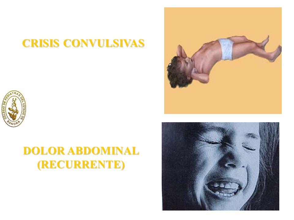 CRISIS CONVULSIVAS DOLOR ABDOMINAL (RECURRENTE)