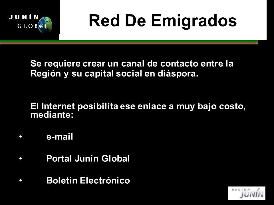 Red De Emigrados Se requiere crear un canal de contacto entre la Región y su capital social en diáspora.