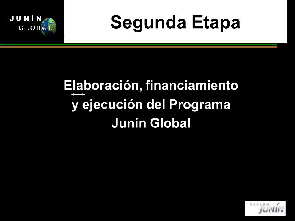 Segunda Etapa Elaboración, financiamiento y ejecución del Programa Junín Global J U N Í N G L O B @ L