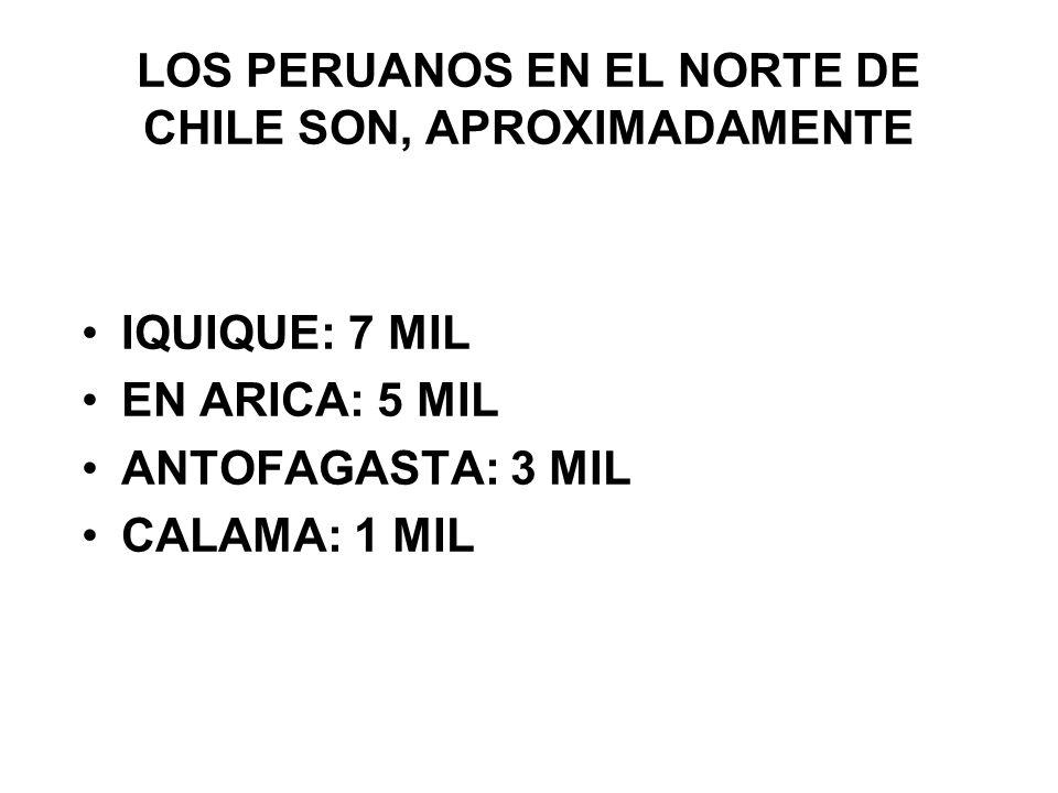 SITUACION MIGRATORIA REGUALARES LA MAYORÍA DE LOS PERUANOS QUE INGRESA A CHILE POR EL PASO DE CHACALLUTA – SANTA ROSA, LO HACEN POR EL CONVENIO ARICA – TACNA IRREGULARES SE ENCUENTRAN, EN SU MAYORÍA AL SUR DE ARICA.