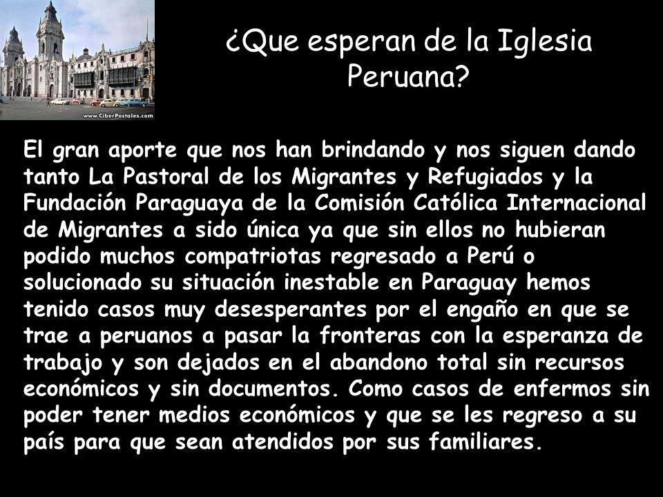 ¿Que esperan de la Iglesia Peruana.